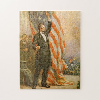 Vintage Abe Lincoln American President Independent Puzzle