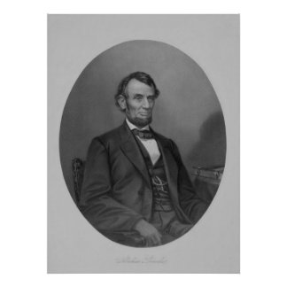 Vintage Abe Lincoln Artwork Poster