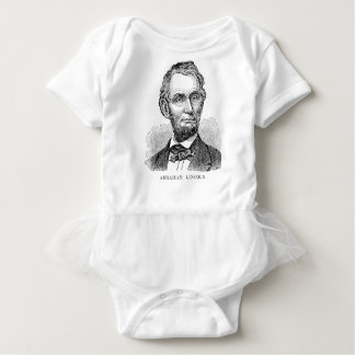 Vintage Abe Lincoln Bust Baby Bodysuit
