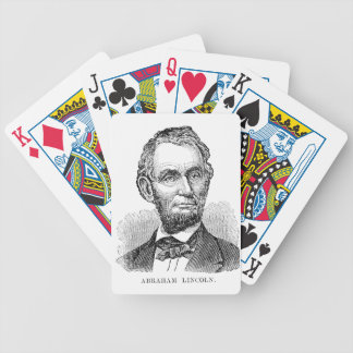 Vintage Abe Lincoln Bust Bicycle Playing Cards