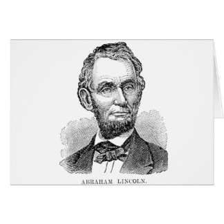 Vintage Abe Lincoln Bust Card