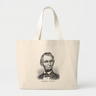 Vintage Abe Lincoln Bust Large Tote Bag