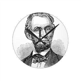 Vintage Abe Lincoln Bust Round Clock