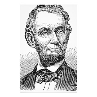 Vintage Abe Lincoln Bust Stationery
