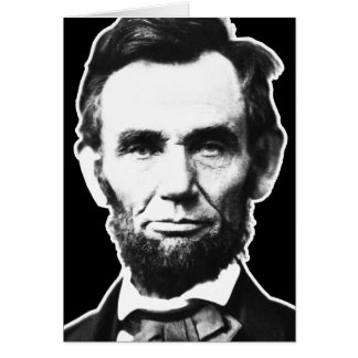 Vintage Abe Lincoln Greeting Card