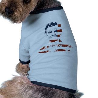 Vintage abraham lincoln american flag dog tee