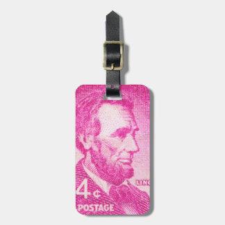 Vintage Abraham Lincoln Luggage Tag