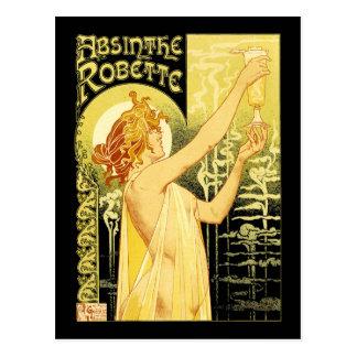 Vintage Absinthe Poster Art Postcard