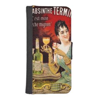 Vintage Absinthe Poster Girl Green Liquor Bottle Phone Wallet Case