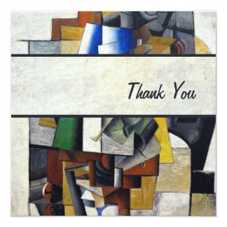 Vintage Abstract 1913 Thank You Notes Personalized Invitations