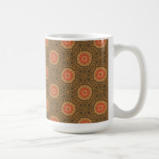 Vintage Abstract 4 Coffee Mugs