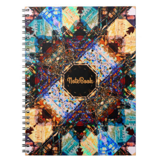 "Vintage Abstract Art | Text Template: ""Notebook"" Notebook"