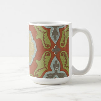 Vintage Abstract Floral (2) Coffee Mugs
