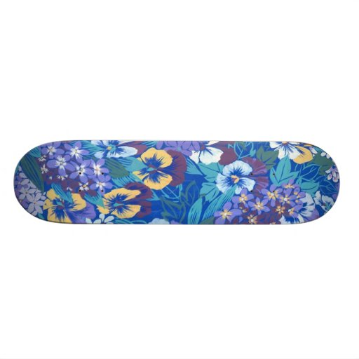 Vintage Abstract Floral  Girly Sissy Skateboard