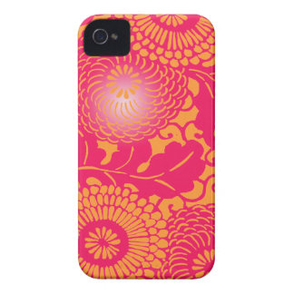 Vintage Abstract Floral Pattern iPhone 4 Case-Mate Cases