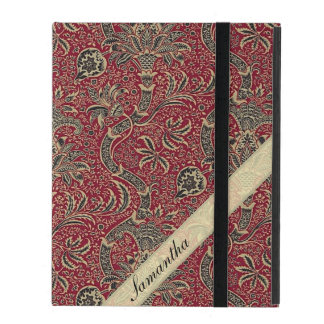 Vintage Abstract Flower Design iPad Cover