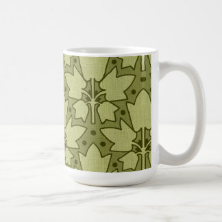 Vintage Abstract Leaves altered art Mugs
