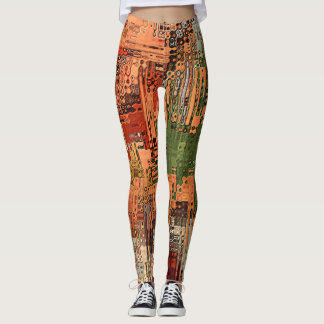Vintage Abstract urban by rafi talby Leggings