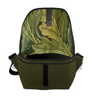 Vintage Acanthus Leaf Lined Messenger Bag
