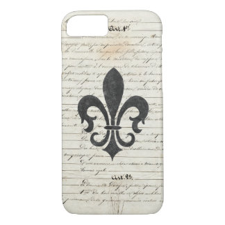 Vintage Accents French Ephemera Fleur De Lis iPhone 8/7 Case