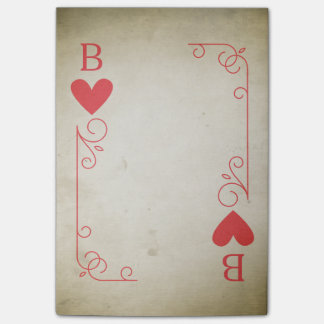 Vintage Ace of Hearts Post-it Notes
