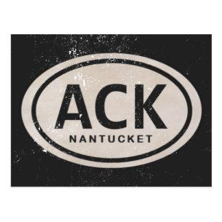 Vintage ACK Nantucket MA Beach Tag Postcard