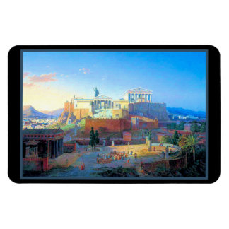 Vintage Acropolis in Greece Rectangular Photo Magnet