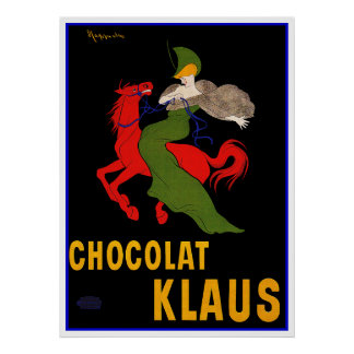 Vintage Ad by Cappiello - Chocolat Klaus Poster