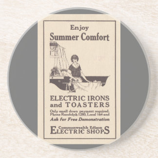 VINTAGE AD ELECTRIC IRONS AND TOASTERS Coaster