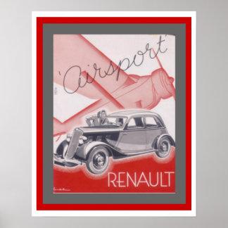 Vintage Ad Poster for Renault Airsport