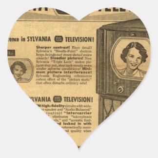 Vintage ad poster: Sylvania television 1950s Heart Sticker