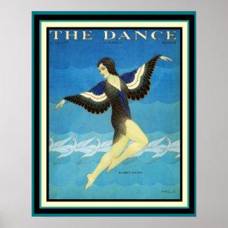 Vintage Ad The Dance Magazine Poster 16 x 20