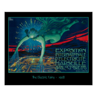 Vintage Ad The Electric Fairy by David Dellepaine Poster