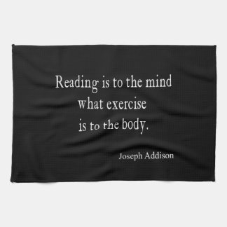 Vintage Addison Reading Mind Inspirational Quote Hand Towel