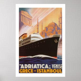 Vintage Adriatica Lines Poster