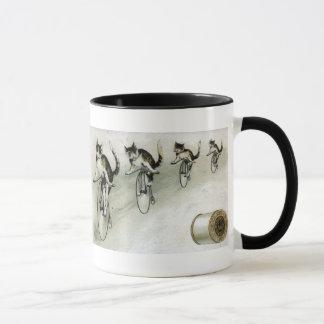 Vintage Advert - Cats on Bikes Mug