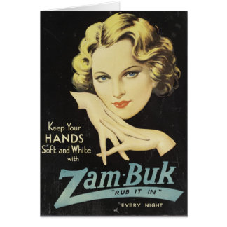 Vintage Advertisement Hand Cream Woman Blond Hair Card