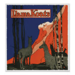 Vintage Advertisement Llamas Art Print Poster
