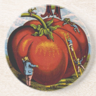 Vintage Advertisement Ripe red tomatoes Coaster
