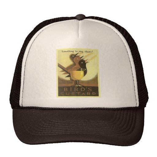 Vintage advertising, Birds Custard Mesh Hats