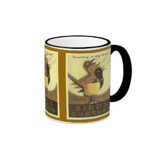 Vintage advertising, Bird's Custard Coffee Mug