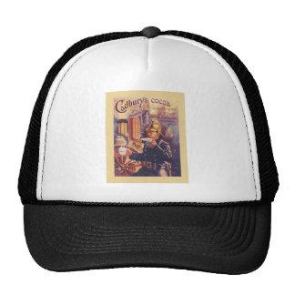Vintage advertising, Cadbury's Cocoa, Fireman Trucker Hats