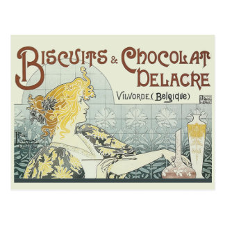 Vintage Advertising Chocoloate Art Nouveau Postcard