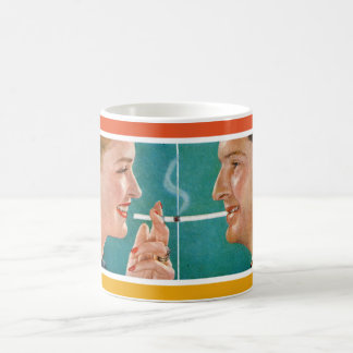 Vintage Advertising Coffee & Cigarette Couple Mug