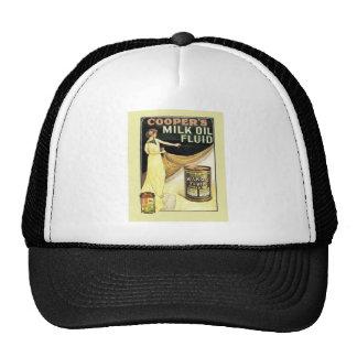 Vintage advertising Cooper s milk oil fluid Trucker Hat