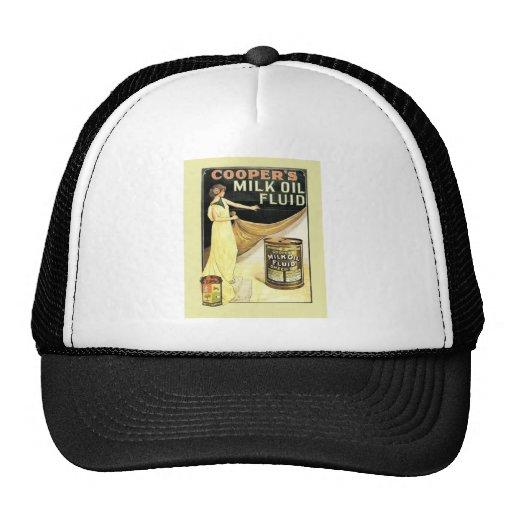Vintage advertising, Cooper's milk oil fluid Trucker Hat