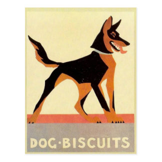 Vintage advertising, Dog Biscuits Postcard