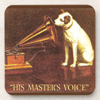 VIntage advertising, His master's Voice Coaster