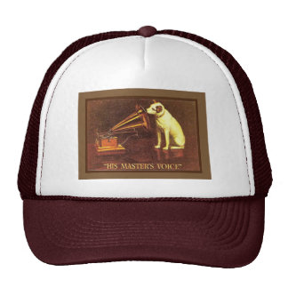 VIntage advertising, His masters Voice Trucker Hats