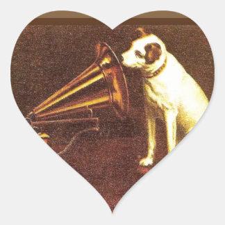 VIntage advertising, His master's Voice Heart Sticker